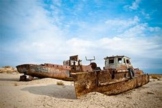 Image: Beached ships of Aral Sea at Moynaq, Uzbekistan (© Kelly Cheng Travel Photography/Getty Images)