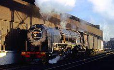 at De Aar. South African Railways, Steam Locomotive, World Best Photos, Train Travel, Train Engines, Sky, Sunset, Fisher, Trains
