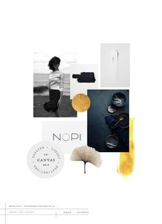 black, white and gold moodboard