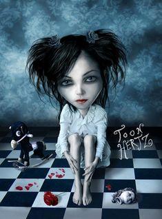 Dark Fantasy Art, Dark Gothic Art, Arte Horror, Horror Art, Steampunk, Dark Side, Vampires, Mark Ryden, Dark Artwork