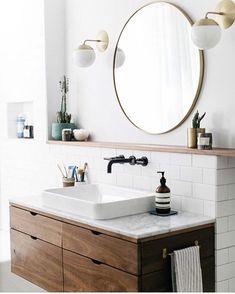 bathroom   il n'y a que sur Pinterest que ça existe les jolis meubles de salle de bains ? Dites-moi que non et que vous avez des bonnes adresses ! #travaux #maviechezleroymerlin