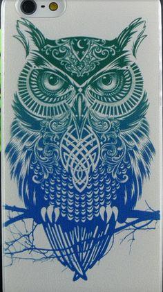 Hand Paint iPhone 4 / 5 / SE Case Elephant Owl