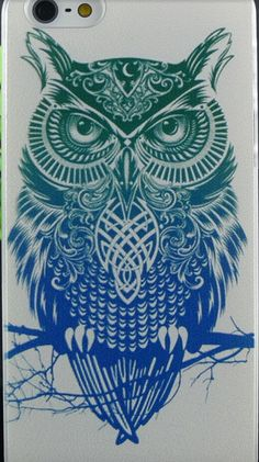 Hand Paint iPhone 4 / 5 / SE Case Elephant Owl