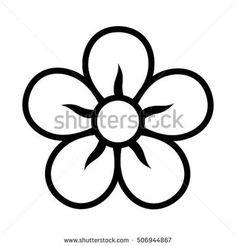 Image result for 5 petal flower