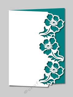 Over the Edge Floral Border . machine cut : - With optional backing plate Homemade Books, Homemade Cards, Flower Cards, Paper Flowers, Kirigami, Stencil Painting, Floral Border, Pop Up Cards, Stencil Designs