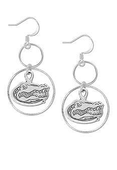 Legacy Florida Gator Silver-Tone Drop Earrings