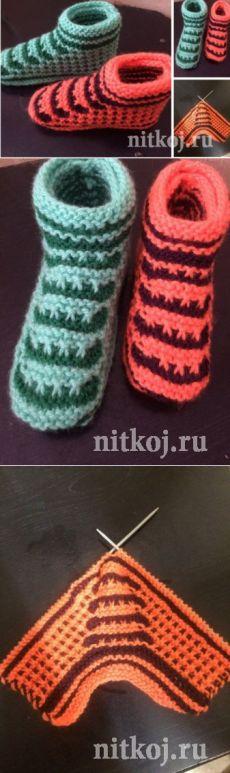 nitkoj.ru Crotchet, Knitting Socks, Sticks, Accessories, Projects, Fashion, Fuzzy Slippers, Women's, Ponchos