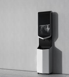 Public drinking water equipment on Behance Kiosk Design, Ux Design, Ev Charger, Ev Charging Stations, Industrial Design Sketch, Trash Bins, Water Dispenser, Digital Signage, Air Purifier