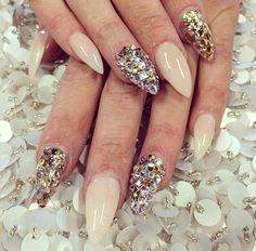 Nails with #swarovski !