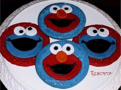 Elmo & Cookie Monster   by tesorocookies