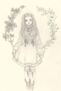 "yasahime: "" drawings on storenvy """