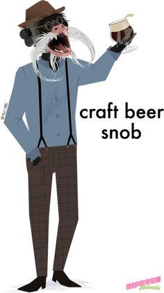 craft beer snob from hipster animals
