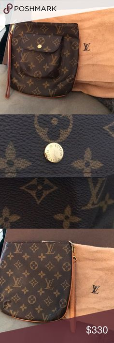 6ba3372ec6f6 AUTHENTIC Louis Vuitton Partition Wristlet NWOT. Brown and tan monogram  coated canvas Louis Vuitton Partition