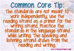 Mrs. Orman's Classroom: Tip #3 for Implementing the Common Core ...