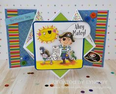 Ahoy Matey - Diamond Fold Card - Whiz Kids by design team member Lyndsey Crafts To Do, Crafts For Kids, Ahoy Matey, Craftwork Cards, Folded Cards, Kids Cards, Boy Birthday, I Card, Making Ideas