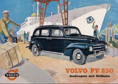 Get A Free Ride With Your New Car: European Delivery Programs - Gadling Volvo Ad, Car Brochure, Art Deco Posters, Car Advertising, Ford, Car Drawings, Car Painting, Vintage Advertisements, Cars And Motorcycles