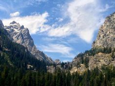 Forks of Cascade Canyon via Cascade Canyon Trail Grand Teton National Park, Wyoming
