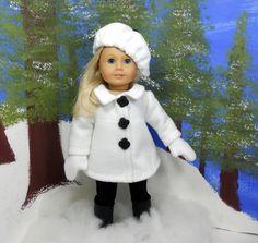 American girl 18 doll coat jacket in off white by MegOrisDolls, $29.50