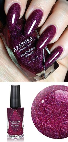 Azature Fine Jewelry ~ recent Limited Addition Black Diamond Nail Lacquer