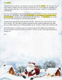 EzsantalettersCom  Santa Letter For Child With A New Home
