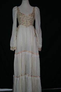 Vintage Gunne Sax Beige Dress