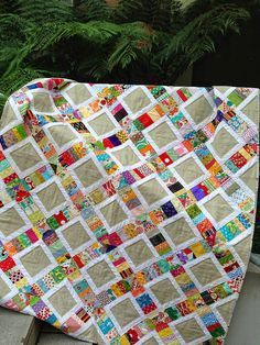Fun scrappy quilt