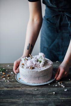 our food stories: glutenfree rhubarb-raspberry cake & a moodboard for farrow & ball