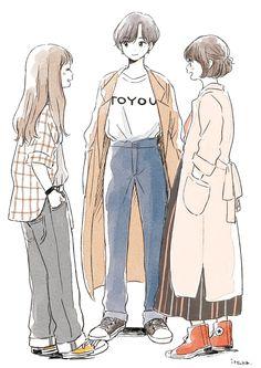 Aesthetic Drawing, Aesthetic Art, Aesthetic Clothes, Anime Art Girl, Manga Girl, Illustration Mode, Illustrations, Cute Art Styles, Art Reference Poses