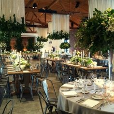 Modern-Organic Wedding at The Colony House: Kristina + Oliver - Green Wedding Shoes Wedding Reception Flowers, Wedding Receptions, Wedding Ideas, Wedding Shoes, Reception Ideas, Floral Wedding, Green Centerpieces, Wedding Centerpieces, Centrepieces