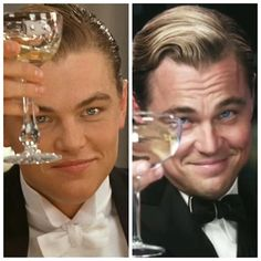 """""""Jack Dawson… Penniless artist who wins a ticket onto Titanic in 1912, attends a first class dinner, develops a taste for the finer things in life, pockets the Heart of the Ocean, survives the sinking, pawns the diamond, spends the following ten years building his wealth and in 1922 moves to West Egg as Jay Gatsby… Millionaire with a shady past and fear of swimming pools."""""""