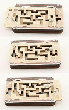Two Keys - Wooden Puzzle Maze Brain Teaser