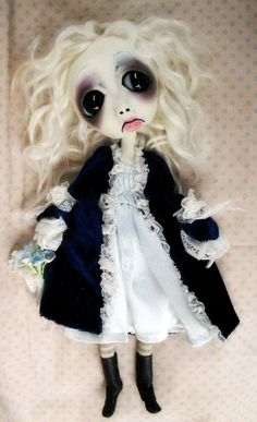 Loopy Ooak Doll  Gothic Art Halloween Decoration Art Doll Xenia, via Etsy.