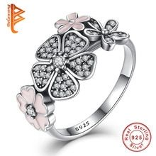 Cheap finger ring, Buy Quality rings for women wedding directly from China rings for women Suppliers: 925 Sterling Silver Shimmering Bouquet,Pink Enamel&Clear CZ Cherry Blossom Daisy Flower Finger Rings for Women Wedding Gift Engagement Jewelry, Engagement Gifts, Wedding Jewelry, Wedding Engagement, Pink Ring, Color Ring, Crystal Flower, Silver Enamel, 925 Silver