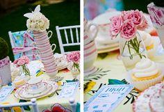 Alice B-day - stack the tea set.