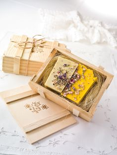 Hand made soap packaging