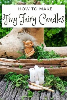 Human beings aren't the only creatures who love candles, the fae folk are fans too. Here's a quick and easy way to make a whole bunch of real fairy candles in no time at all. Perfect for your doll's house or if you just want to spoil your little friends #fairycandles #miniaturecandles #acraftymix #miniaturetutorial #tinycandles