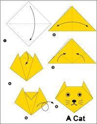 cómo hacer un gato con papel