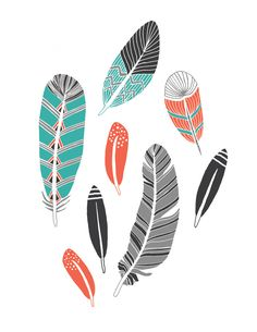 Feather Collection Art Print.