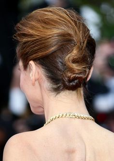 Twist Hairstyles For Short Hair - Messy Twisted Updo