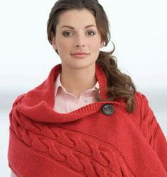 Sweater Wrap for next winter...very easy using basic knitting skills