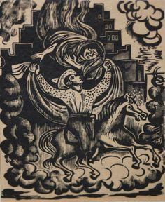 LEOPOLDO MENDEZ-Mexican Modernist-Original LIM.ED. Linocut-Mexican Folklore #Modernism