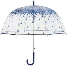 Vera Bradley Auto Open Bubble Umbrella in Cobalt Tile ($44) ❤ liked on Polyvore featuring accessories, umbrellas, bags, extra, lullabies, umbrella, cobalt tile, clear umbrella, bubble umbrella and clear bubble umbrella