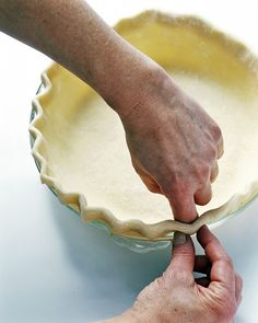 Freeze It: Easy Pie Crust by marthastewart: You can make and freeze pie crusts up to a month in advance so that putting together your favorite pumpkin, pecan, and apple pies for the big day will be a snap. #Pie_Crust #Make_Ahead