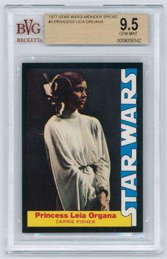 1977 Star Wars Wonder Bread #3 Princess Leia BGS 9.5 Gem Mint - Pop Report 1 of 2
