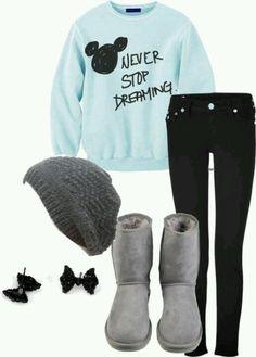 Perfect combo. Maybe change the sweatshirt
