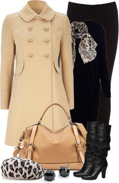 """""""Black and Beige"""" by tammylo-12 on Polyvore"""