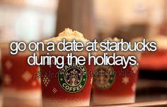pumpkin spice latte date with a handome boy, im always always down for a Starbucks date. gateway to my heart.