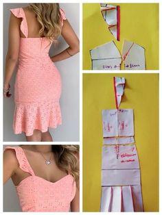 Fashion Sewing, Diy Fashion, Ideias Fashion, Fashion Outfits, Moda Fashion, Dress Sewing Patterns, Clothing Patterns, Costura Fashion, African Fashion Dresses
