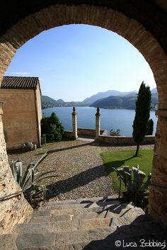 Vista Lago, Morcote, Chiesa di Santa Maria del Sasso, Canton of Ticino_ Switerzland