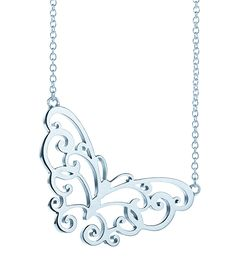 A delicate detail inspired by nature. Tiffany Enchant® butterfly pendant in sterling silver.